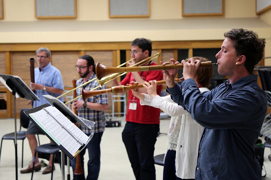 Advanced Loud Band Repertoire and Technique class at MEMF 2016. Photo: Aliza Rand