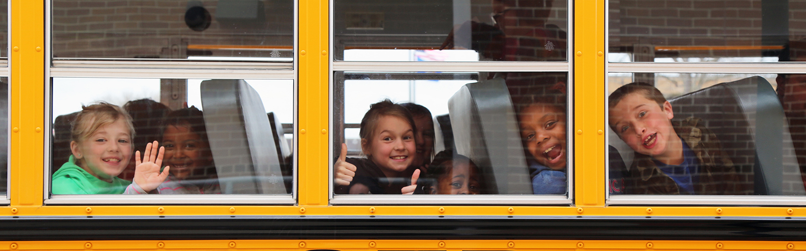 children returning to school after a Big Screens Little Folks screening