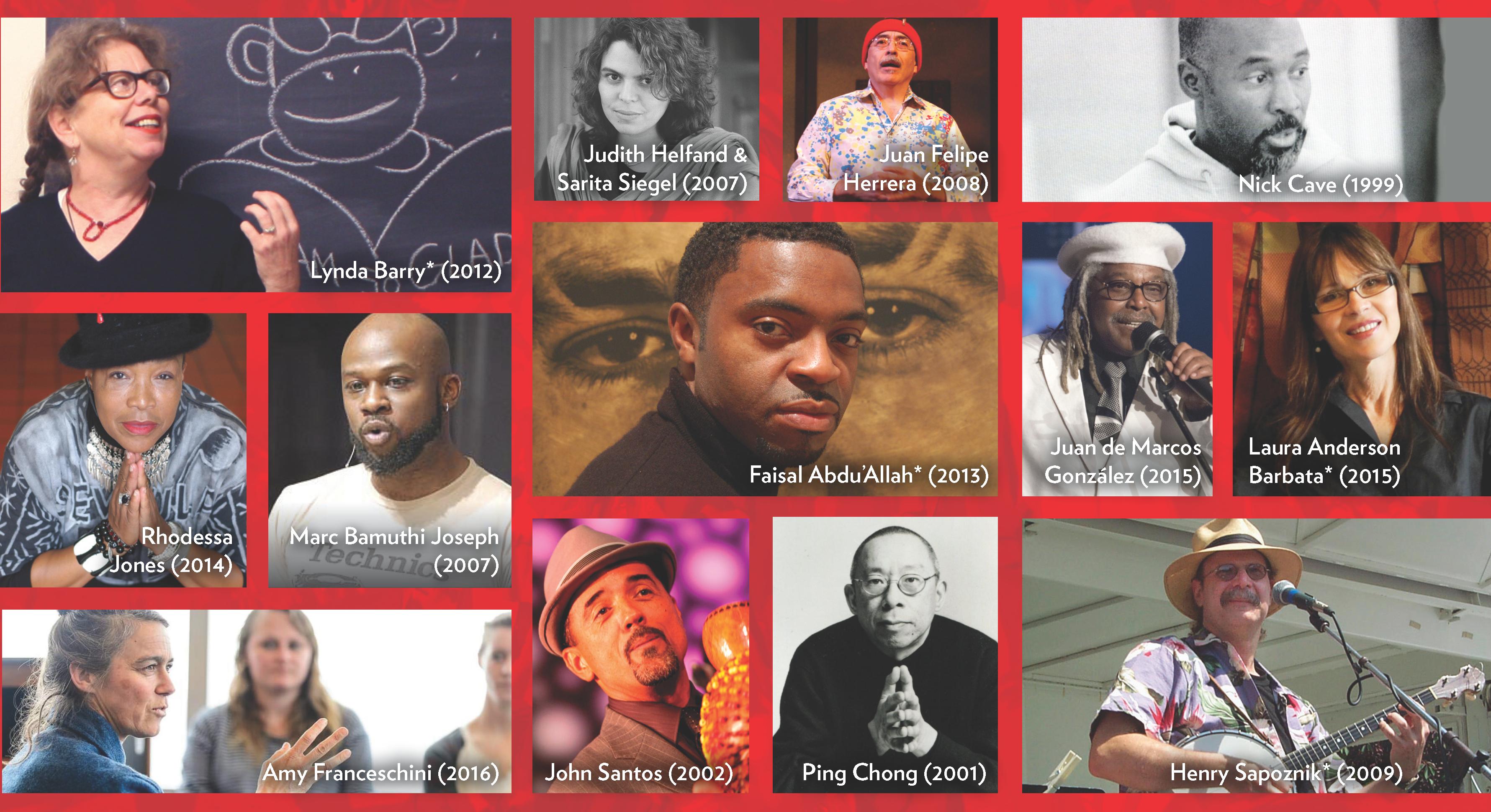 Collage of UW-Madison Interdisciplinary Artists-in-Residence