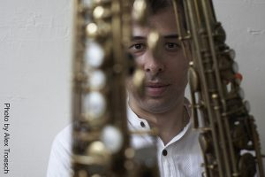 photo of saxophonist Arun Luthra
